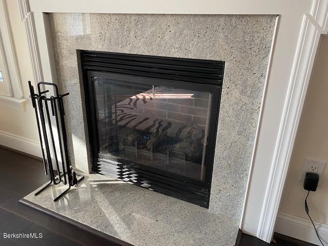 granite gas fireplace