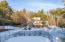 winter view of tennis court