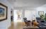 den open to hallway to master bedroom