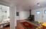 small guest space with bedroom, kitchen, living and kitchen.