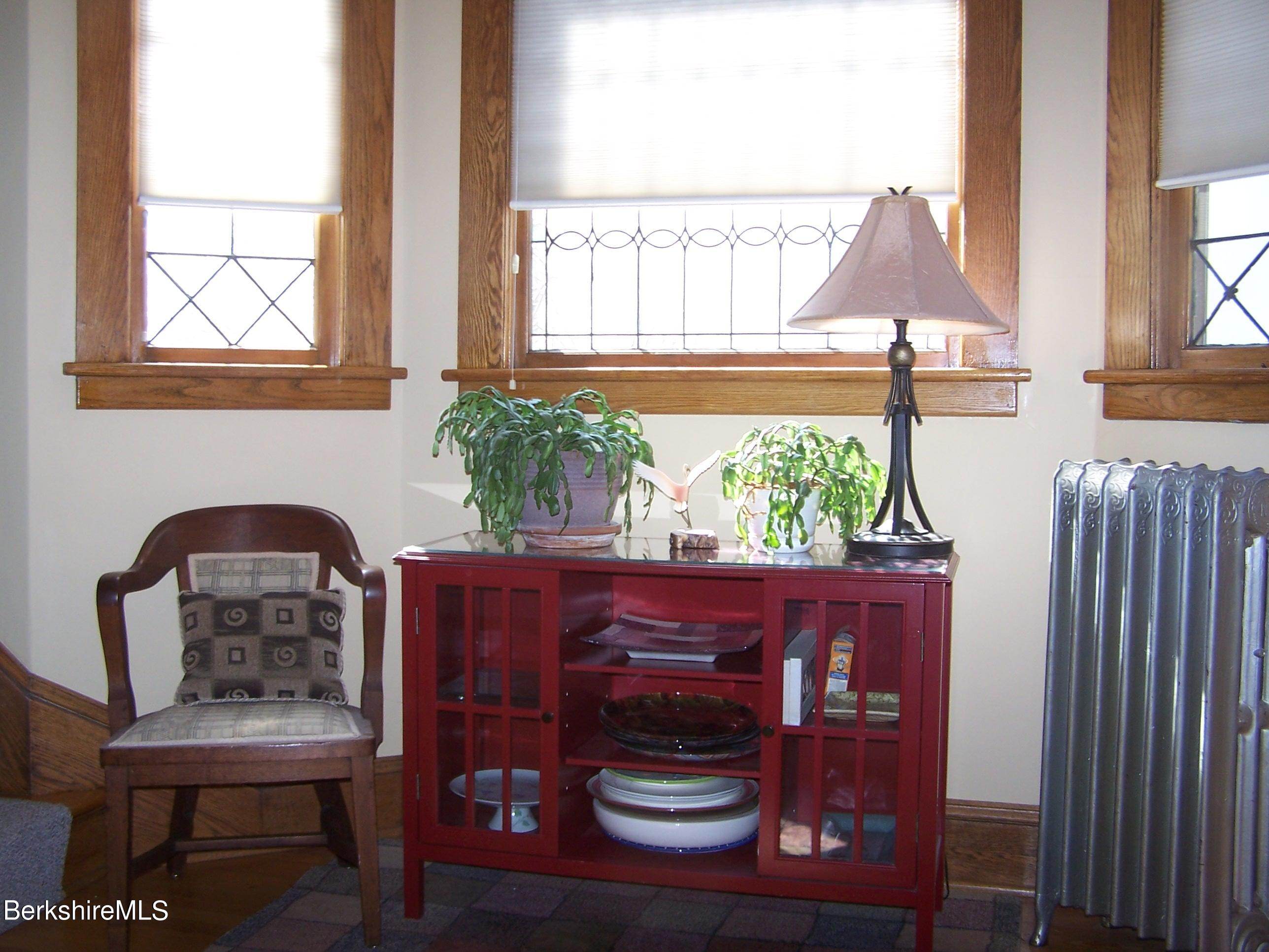 Foyer with Leaded Glass