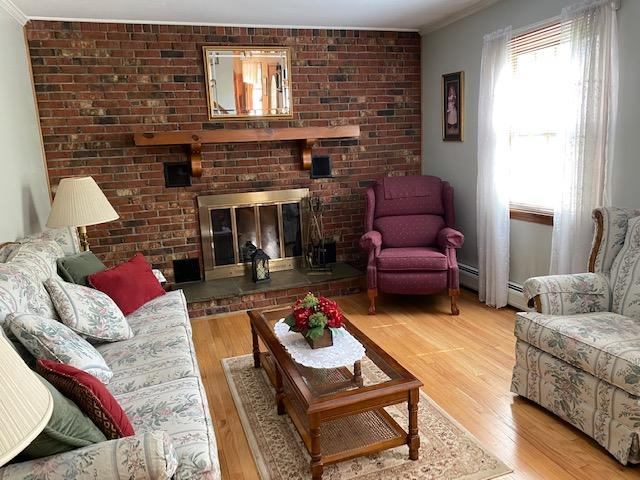solid brick wall  with fireplace