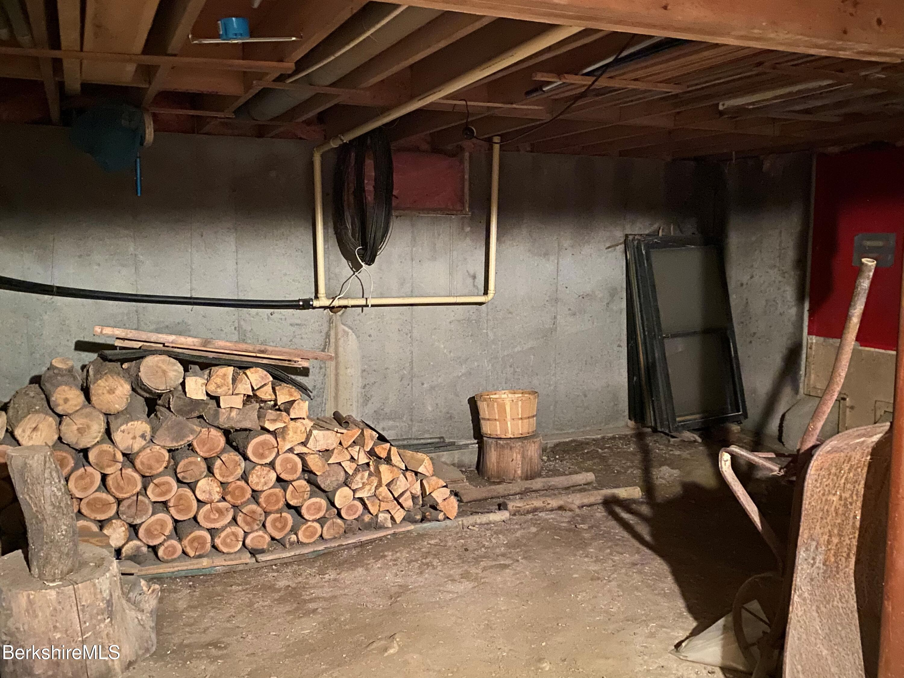 basement storage with walk out