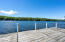 There are panoramic lake views from the large dock with plenty of room for sunning and boating all day long.