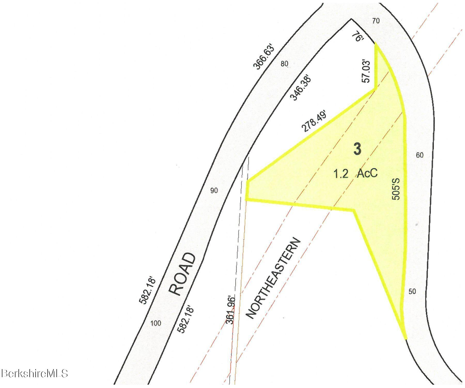 Parcel Map with Dimensions, Easement