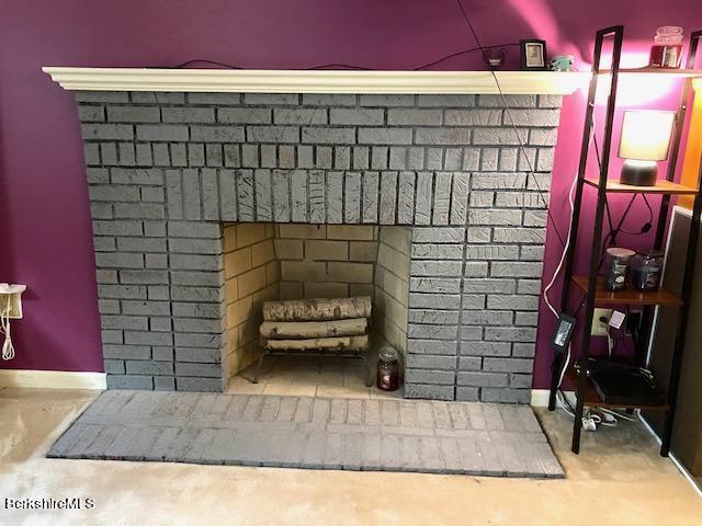 primary bedroom fireplace