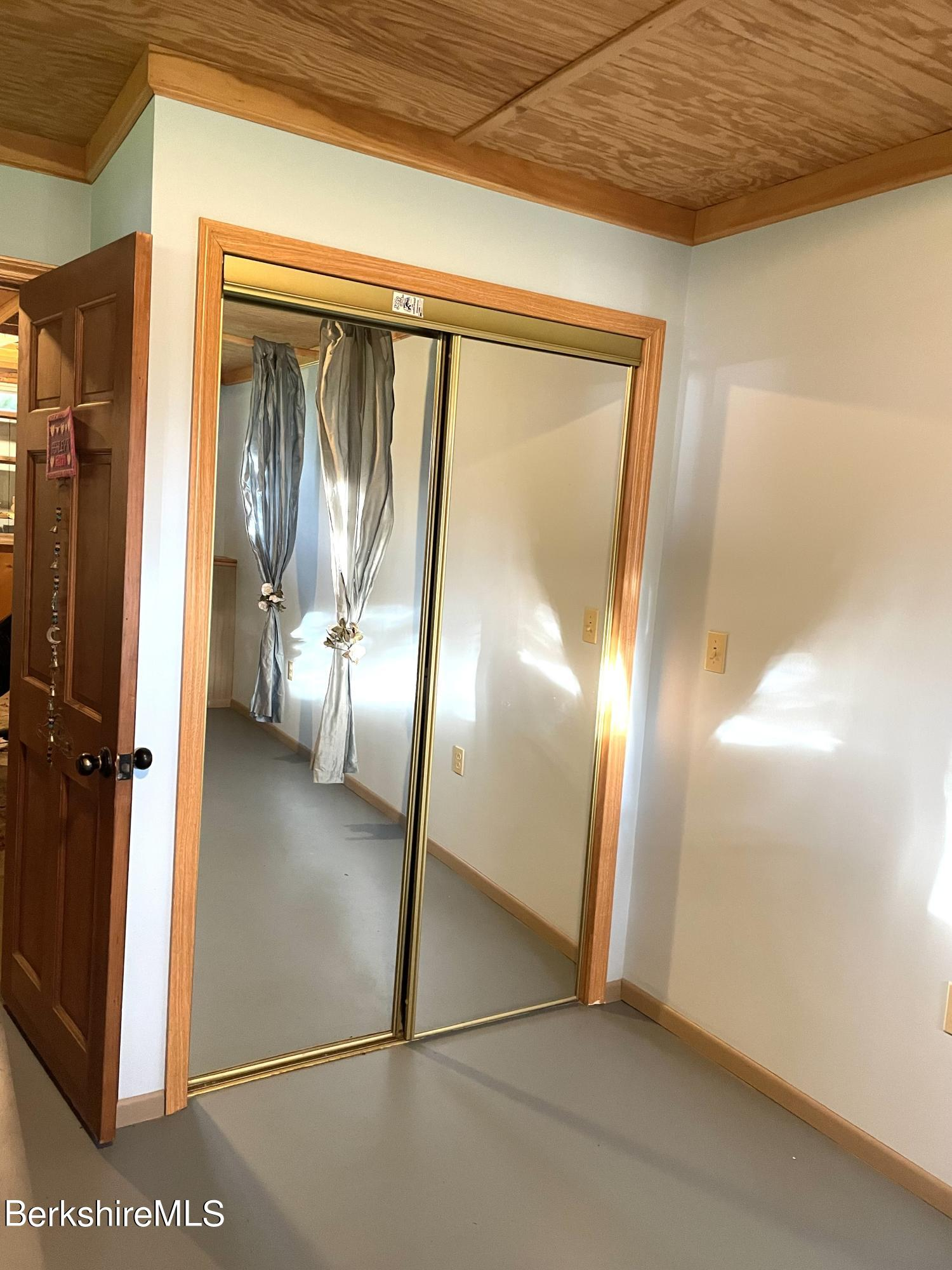 basement bedroom closet