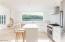 Main House Kitchen: Durable Vermont Marble Counters, Wolf range, Fisher Paykel Refrigerator, Bosch Dishwasher