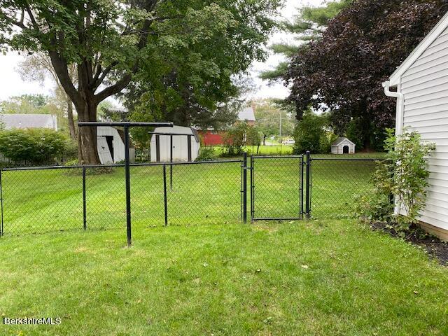 partially fenced yard