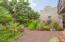 Backyard. Mature. tropical landscaping.