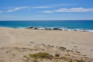View of the beach and sea from your lot.