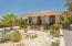 Single story ranch home. desert landscaping