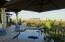 Pool and terrace in early morn light
