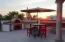 Sunrise over custom pizza oven