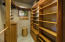 Master walk in closet with built ins