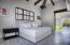 contemporary design, simple interior, high ceiling, hacienda features.