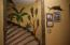interior staircase to downstairs - hand painted mural