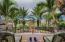 Master private patio - note the statue of Neptuno