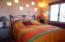 Bright and colorful bedroom.