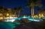 Pool at beachfront Phase 1 at night