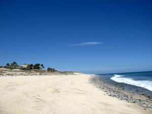 Beaches without anyone on them! That's Casa Hombre Rana in the distance.