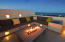 Lounge Area and Fire Pit on Private Roof Top Terrace Overlooking the La Ventana Bay