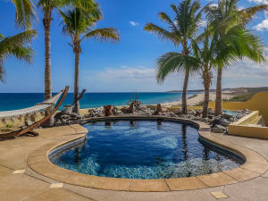The large patio area includes this inviting pool