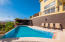 infinity edge pool with wet bar