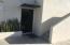 Front door & private stairway to upstairs room.