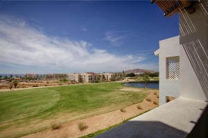 Terrace views to golf course and ocean