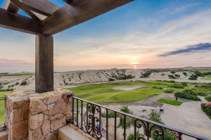 View of the master bedroom's terrace to the Pacific Ocean and Dunes Golf Course.