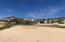 Looking back from beach toward cul de sac