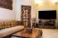 Family room with Bali wall carving