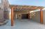 Garage with carport and service room
