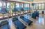 The ocean view Fitness Center at the Beach Club
