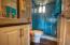 Bathroom remodeled, glass enclosed shower