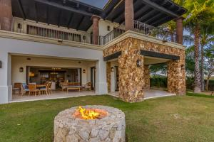 Private Yard with Fire Feature
