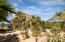 Xeriscape walk way to outdoor palapa/living room