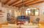 Sant fe inspired details, pine beams