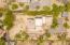 Overhead arial views of lot 1233m2, walled on front and back, fences on sides.