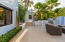 outdoor kitchen & entry