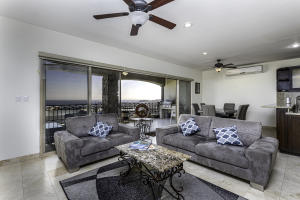 Living room, open concept and amazing views to the bay