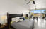 Spacious master bedroom with 2 walking in closets, home office and expansive terrace