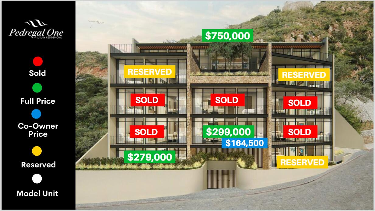 Pedregal one availability