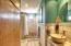 master bathroom with closets