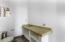 Half bath off of the living area