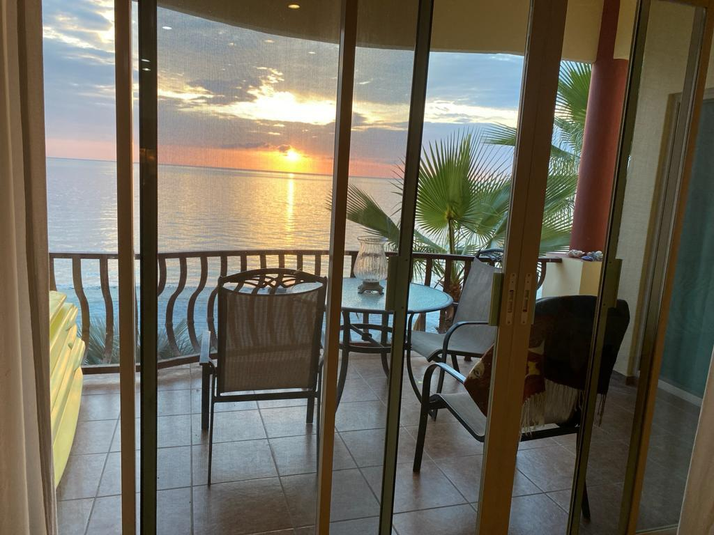Sandy beachfront Condominium B-202, one bedroom, 2 full bathrooms, inside gate security one car indoor garage, one car dedicated parking area.Close to Los Barriles down Town, supermarkets and restaurants