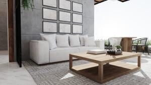 Nice living space leading toward patio