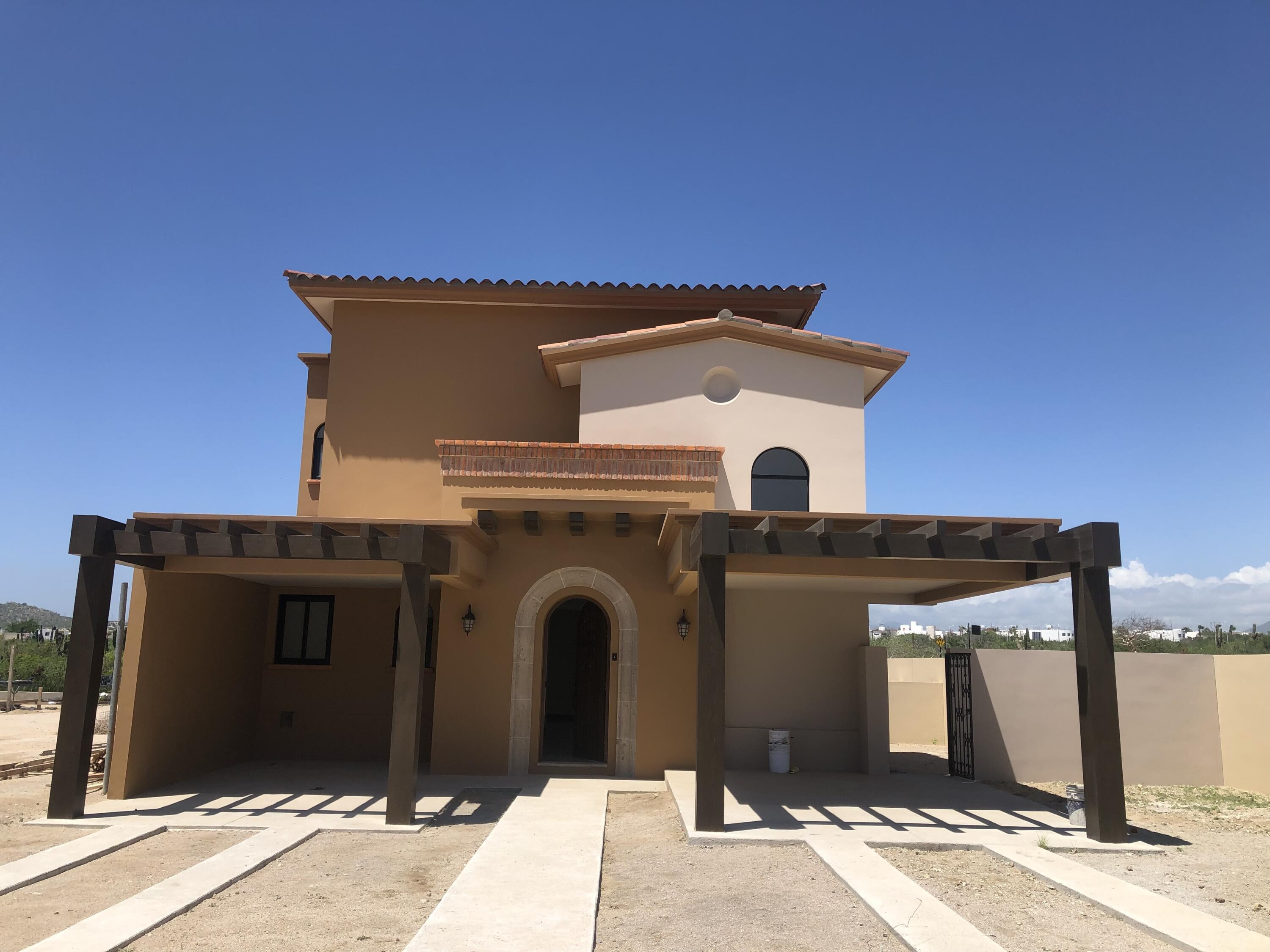 Mavila Villas are integral part of community. this 3 bedroom homes offer lots of outdoor space and garden area that can be utilized to individual liking - BBQ areas and pools can be installed as upgrade for entertaining. Two story home with main baster bedroom on the ground  level connected to the living, kitchen and dining area. Two bedrooms located on the 1st floor offer private terraces for future golf course views. Modern finish, granite counter tops in the kitchen, wood grain kitchen cabinetry with complete appliance package: induction stove/electric oven, stainless recirculating hood, stainless fridge with water/ice, stainless sink, stainless dishwasher. Simulated wood ceramic floor give light feel and light. Utility closet has plumbing for electric washer/dryer center. Mavila home owners can enjoy private community amenities such as: pools, jacuzzis, BBQ areas, park, gym, concierge services, event salon and in addition for an optional $60 USD per month fee access to Quivira Amenities with Special Discounts to Spa, Restaurants and 18 hole Jack Nicklaus Signature Course. Quivila Q- Life events and ongoing resort like living activities are just an extra cherry on the cake for any Mavila owner.   Upcoming Beach Club will offer as well variety of pools, kids activities, high end and casual dining, market and more. ... something to look for ward to.. Phase 1 completed end 2022.   Mavila Living Opportunity is Like no other. For owners and renters alike. Having availability of endless amenities makes Mavila an ideal Renters Paradise. High ROI