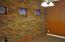 Custom rock wall in office